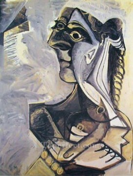 femme assise 1 1971 Cubism Oil Paintings