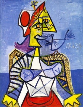 femme assise 1939 Cubism Oil Paintings