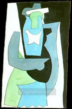 femme assise 2 1908 Cubism Oil Paintings