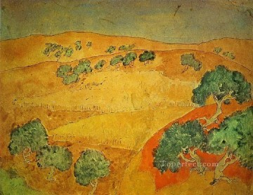 Famous Abstract Painting - Barcelone paysage d ete 1902 Cubist