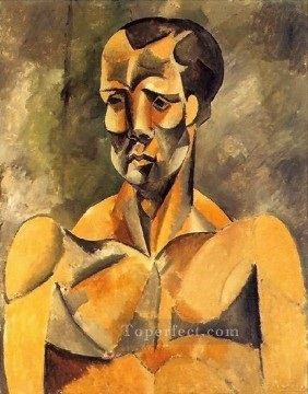 Buste d homme L athlete 1909 Cubist Oil Paintings