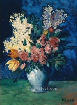 Fleurs 1901 Cubist Oil Paintings