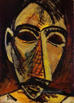 Head of a Man 1907 Cubist Oil Paintings