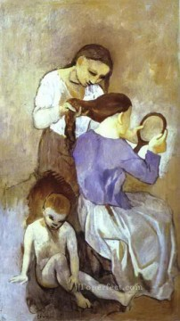 Famous Abstract Painting - La coiffure 1906 Cubist