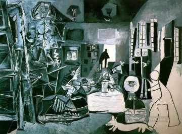 Las Meninas After Velazquez 1957 Cubist Oil Paintings