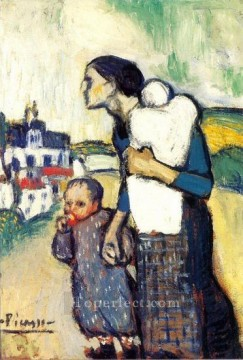Mere et enfant 2 1905 Cubist Oil Paintings