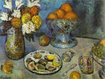 Nature morte Le dessert 1901 Cubist Oil Paintings