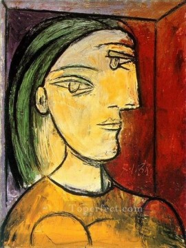 therese works - Portrait de Marie Therese 1938 Cubist