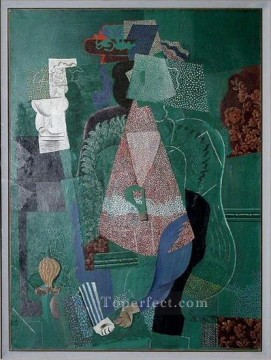 Portrait de jeune fille 1914 Cubist Oil Paintings