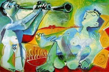 Serenade L aubade 1965 Cubist Oil Paintings