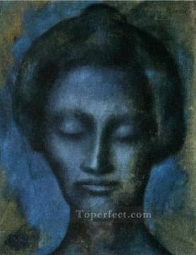 Tete de femme 2 1901 Cubist Oil Paintings