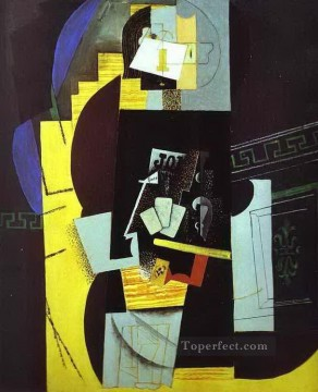 The Card Player 1913 Cubists Oil Paintings