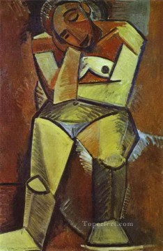 Woman Seated 1908 Cubists Oil Paintings