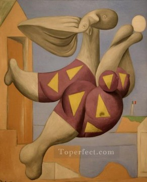 Baigneur avec un ballon de plage 1932 Cubists Oil Paintings