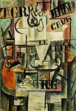 1917 Canvas - Compotier 1917 Cubists