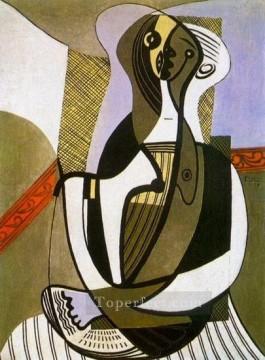 Femme assise 1927 Cubists Oil Paintings