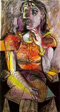 Femme assise 2 1938 Cubists Oil Paintings