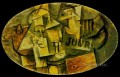 Guitare verre et journal 1912 Cubists