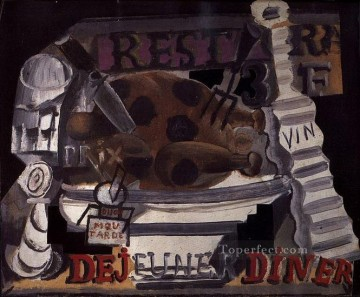 Restaurant 1914 Cubists Oil Paintings