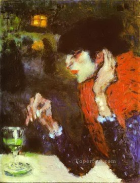 The Absinthe Drinker 1901 Cubists Oil Paintings