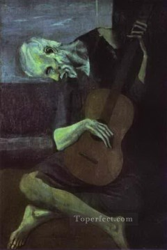 Cubism Painting - The Old Guitarist 1903 Cubists
