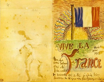 Cubism Painting - Vive La France 1914 Cubists