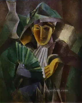 Woman with a Fan 1909 Cubists Oil Paintings