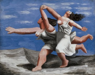 women Painting - Women Running on the Beach 2 Cubists