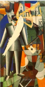 aviator Kazimir Malevich cubism abstract Oil Paintings