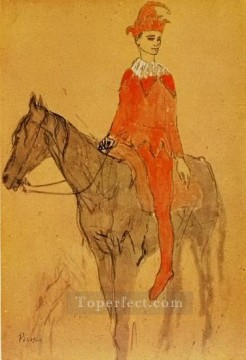 Arlequin a cheval 1905 Cubists Oil Paintings