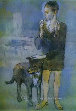 Boy with a Dog 1905 Cubists Oil Paintings