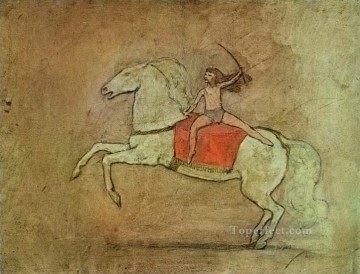 Equestrienne a cheval 1905 Cubists Oil Paintings