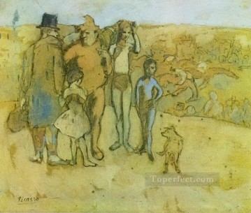 Famille de saltimbanques tude 1905 Cubists Oil Paintings