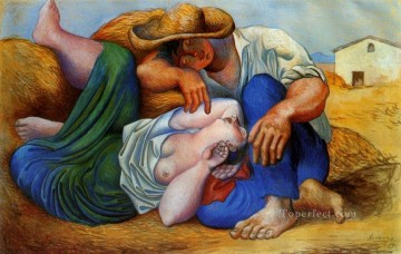 La sieste 1932 Cubists Oil Paintings
