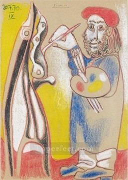 Le peintre 1970 Cubists Oil Paintings