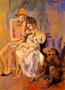 The Acrobat family 1905 Cubists Oil Paintings