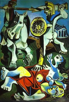 women Painting - The Rape of the Sabine Women 1962 Cubists