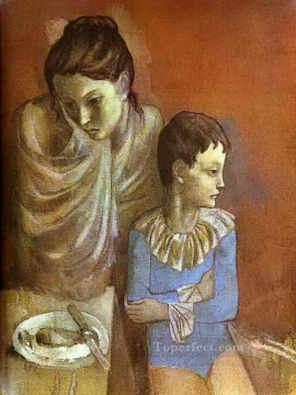 Tumblers Mother and Son 1905 Cubists Oil Paintings