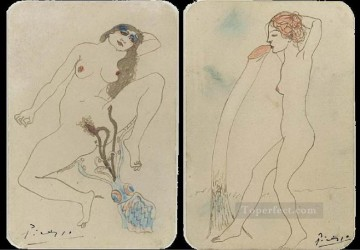 drawing Oil Painting - Two erotic drawings Deux dessins erotiques 1903 Cubists