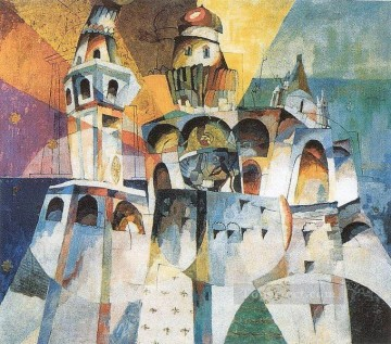bells ivan the great bell 1915 Aristarkh Vasilevich Lentulov cubism abstract Oil Paintings