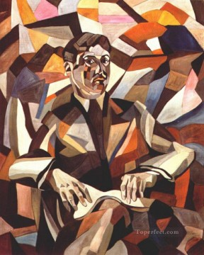 self portrait 1912 Aristarkh Vasilevich Lentulov cubism abstract Oil Paintings