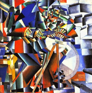 the knifegrinder 1912 Kazimir Malevich cubism abstract Oil Paintings