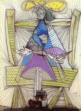 Femme assise Dora Maar 1938 Cubists Oil Paintings