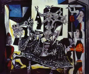 Knight Page and Monk 1951 Cubists Oil Paintings