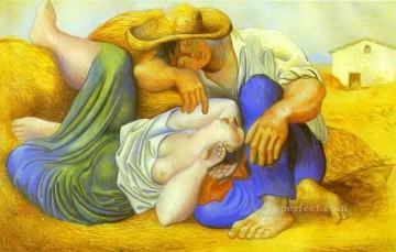 sleep Painting - Sleeping Peasants 1919 Cubists