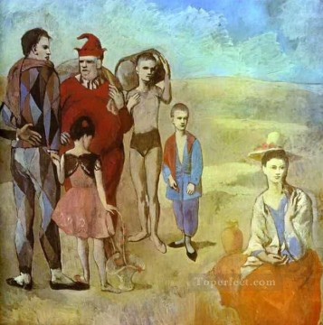 The Family of Saltimbanques 1905 Cubists Oil Paintings