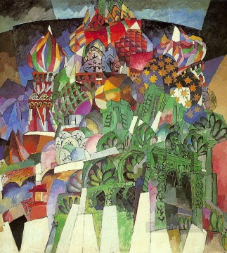 cubism works - saint basil s cathedral 1913 Aristarkh Vasilevich Lentulov cubism abstract