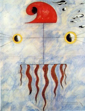 cat cats Painting - Head of a Catalan Peasant Dadaism