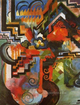 Famous Abstract Painting - Colored Composition Expressionism