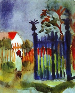 Famous Abstract Painting - Garden Gate Expressionism